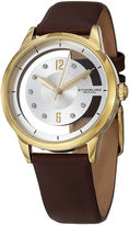 Stuhrling Original Womens Brown Strap Watch-Sp15174