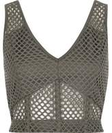 River Island Womens Grey mesh fitted bralet