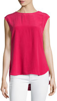 Haute Hippie Sleeveless Cowl Blouse, Raspberry