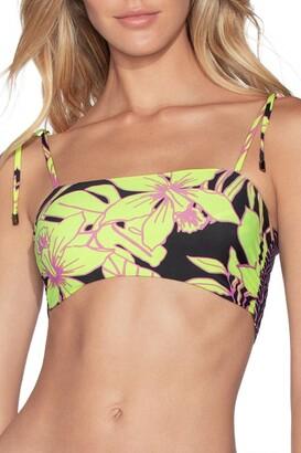 Maaji Kamali Piazza Tie Strap Reversible Bralette Bikini Top