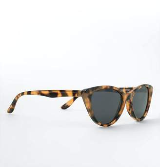 francesca's Jeanie Tort Cat Eye Sunglasses - Tortoise