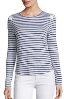 Generation Love Patti Lace-Up Striped Linen Tee
