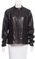 Calvin Klein Zip-Up Leather Jacket