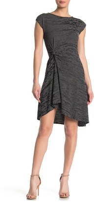 Max Studio Twist Front Cap Sleeve Dress