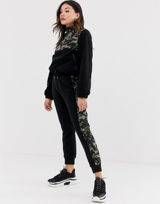 ASOS DESIGN co-ord jogger in fleece with camo print