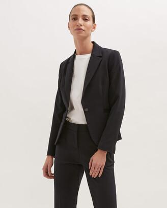 Jigsaw Paris One Button Suit Jacket
