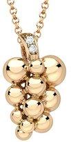 Georg Jensen 18ct Rose Gold with Brilliant Cut Diamonds Sculptural Moonlight Grapes Pendant Necklace