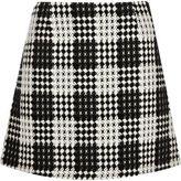 River Island Womens Black and white check A-line mini skirt