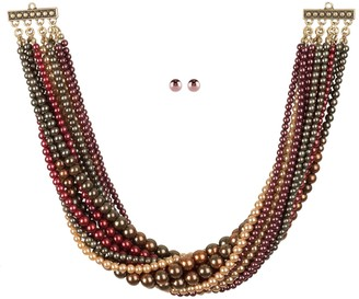 Linea by Louis Dell'Olio 15-Strand Faux Pearl Necklace Set