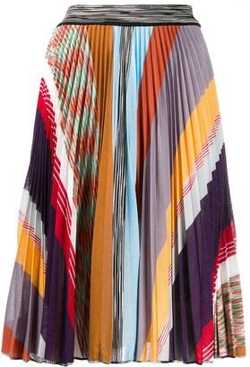 Missoni Colour-Block Pleated Skirt
