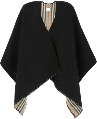Burberry Icon Stripe Detail Reversible Cape