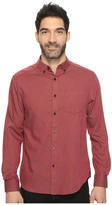 Kenneth Cole Sportswear Long Sleeve Button Down Collar Solid Flannel