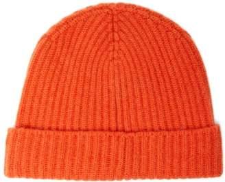 Begg & Co. - Alex Ribbed Cashmere Beanie Hat - Mens - Orange