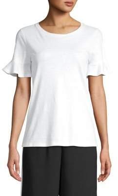 MICHAEL Michael Kors Bell-Sleeve Linen & Cotton-Blend Tee
