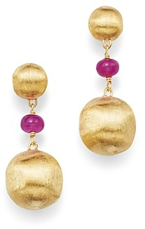 Marco Bicego 18K Yellow Gold Africa Precious Ruby Drop Earrings