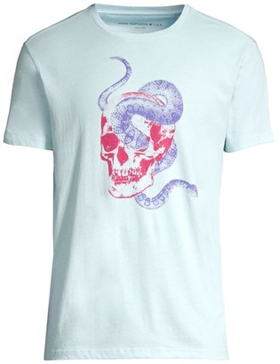 John Varvatos Snake Skull Graphic Cotton T-Shirt