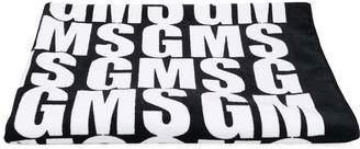 MSGM Kids logo beach towel