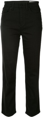 Rag & Bone Mid Rise Cropped Jeans