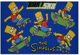 The Simpsons Fun rugs bart sk8 rug