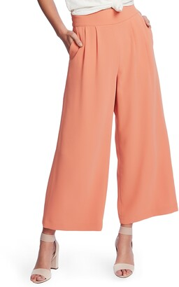 1 STATE Wide Leg Crepe Trousers