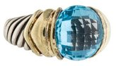 David Yurman Blue Topaz Capri Cocktail Ring
