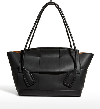 Bottega Veneta Arco 48 Grainy Top-Handle Bag
