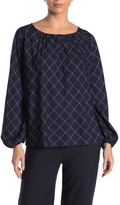 Amour Vert Calico Windowpane Blouse