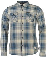 Firetrap Blackseal Long Sleeve Check Shirt