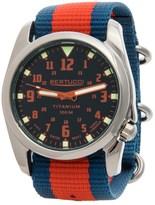 Bertucci Nautical HighPolish Titanium Analog Watch - 44mm, Nylon Strap