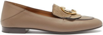 Chloé The C Collapsible-heel Leather Loafers - Womens - Grey