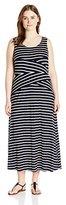 Calvin Klein Women's Plus-Size Stripe Maxi Dress