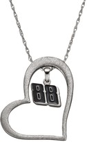 """Insignia Collection NASCAR Dale Earnhardt Jr. """"88"""" Stainless Steel Heart Pendant Necklace"""
