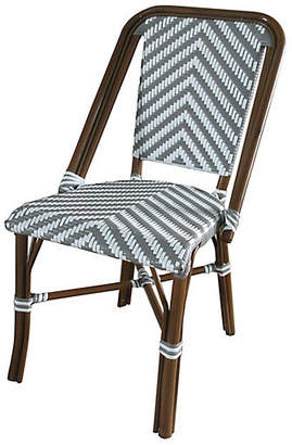 Tiab Inc. Modern Outdoor Bistro Side Chair - Gray/White