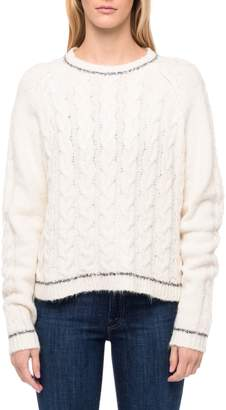 Line Cable-Knit Roundneck Sweater