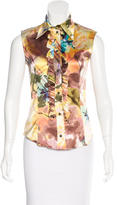 Christian Dior Watercolor Satin Silk Top