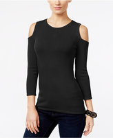 INC International Concepts Petite Cold-Shoulder Sweater, Only at Macy's