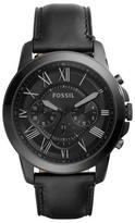 Fossil Black Grant Chronograph Watch Fs5132