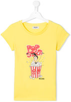 Moschino Kids - popcorn print T-shirt - kids - Cotton/Spandex/Elastane - 14 yrs
