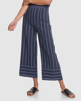 Roxy Womens Tell Me Ok High Waist Linen Pants