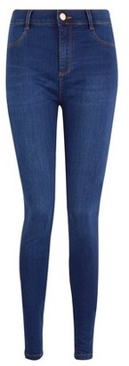 Dorothy Perkins Womens Blue 'Frankie' Super Skinny Denim Ankle Grazer Jeans, Blue