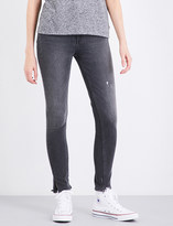 Levi's 721 frayed-hem skinny high-rise jeans