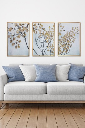 """Gallery 57 Asian Branches Triptych Floating Canvas Wall Art - 48"""" x 24"""""""