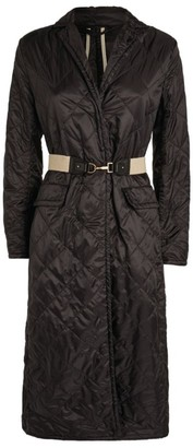 Max Mara The Cube Quilted Belted Coat