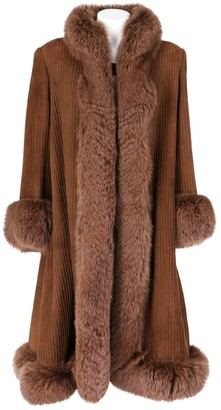 Valentino Brown Fox Coat for Women Vintage