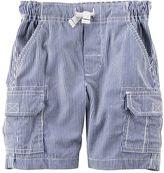 Carter's Toddler Boy Pinstripe Canvas Cargo Shorts