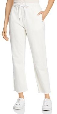 Rag & Bone Cotton Denim Jogger Pants in Off White