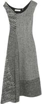 Stella McCartney Jackie asymmetric paneled wool-tweed dress