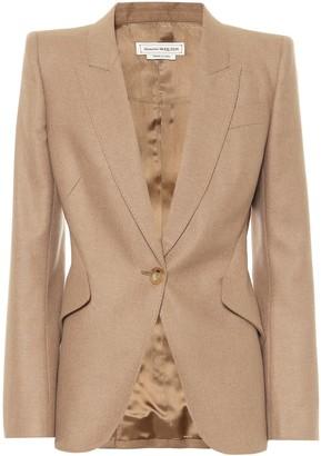 Alexander McQueen Camel-hair blazer