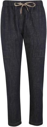 Brunello Cucinelli Tie-waist Denim Trousers