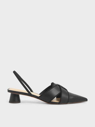 Charles & Keith Cylindrical Heel Slingback Pumps